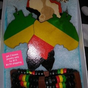 African earring jewelry set